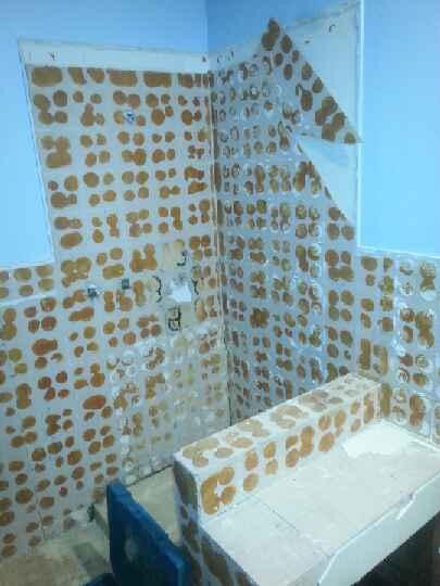 Asbestos Bathroom in Progress