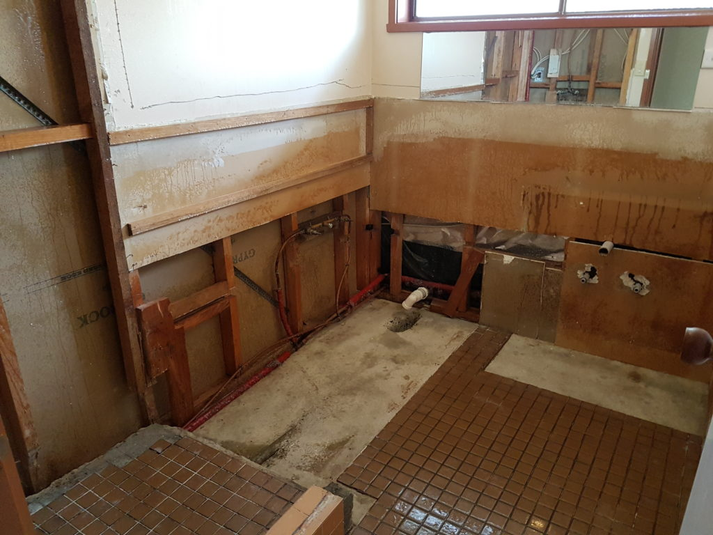Asbestos removed from bathroom - finished job