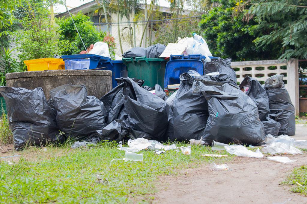 Big Pile of Garbage Bags