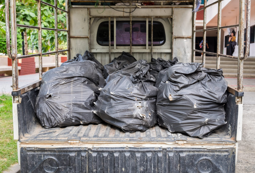 Garbage Bags Ready for Pick-up